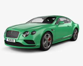3D model of Bentley Continental GT Speed 2015