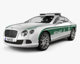 3D model of Bentley Continental GT Police Dubai 2013