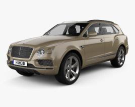 3D model of Bentley Bentayga 2016