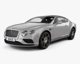3D model of Bentley Continental GT 2015