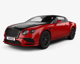 3D model of Bentley Continental GT Supersports Convertible 2017