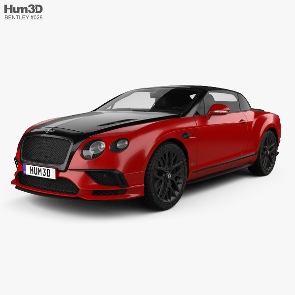 Bentley Continental GT Supersports convertible 2017 3D model