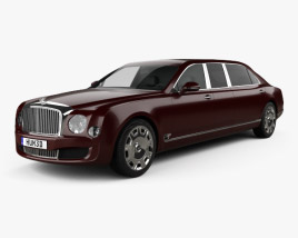 3D model of Bentley Mulsanne Grand Limousine Mulliner 2017