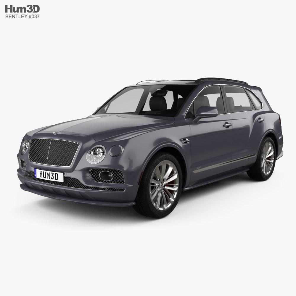 3D model of Bentley Bentayga Speed US-spec 2020