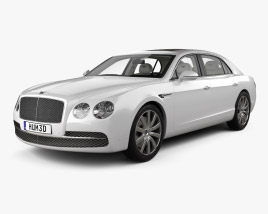 3D model of Bentley Flying Spur with HQ interior 2014