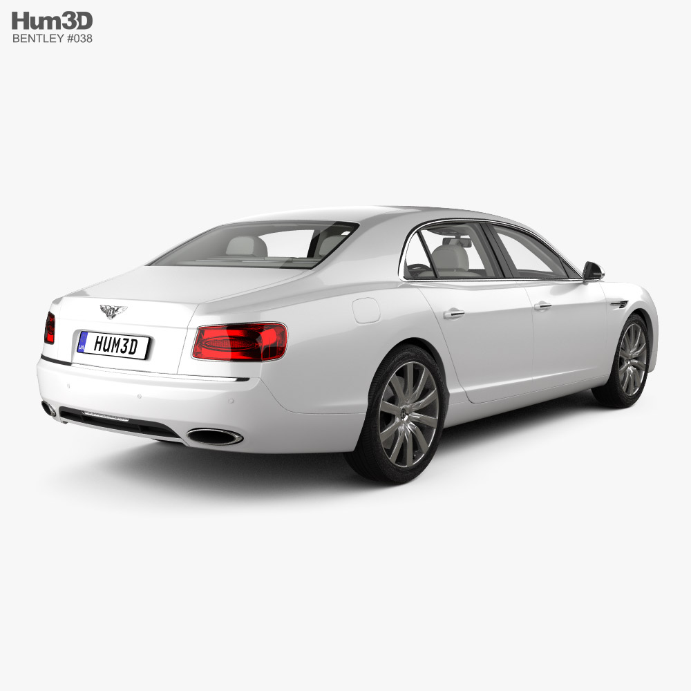 Bentley Flying Spur with HQ interior 2014 3d model back view