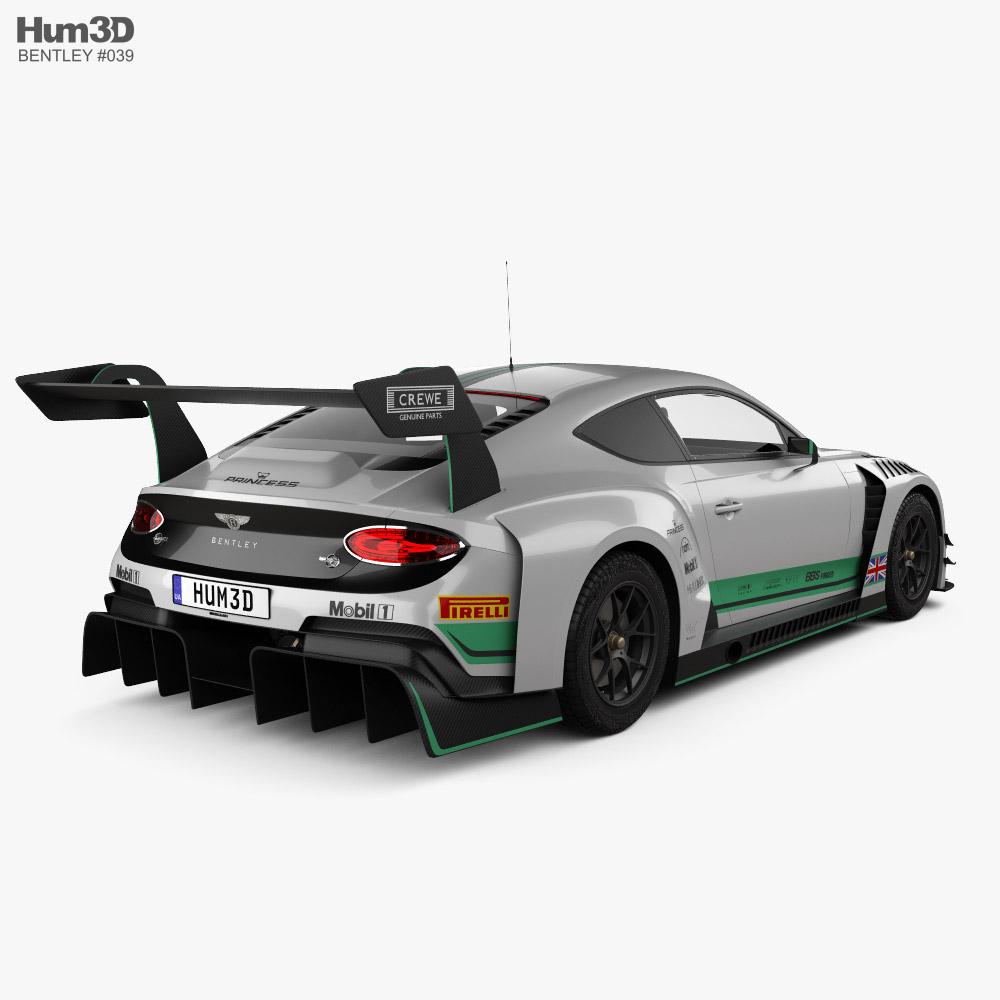 Bentley Continental GT3 2020 3d model back view