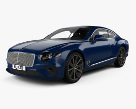 Bentley Continental GT with HQ interior 2018 3D model
