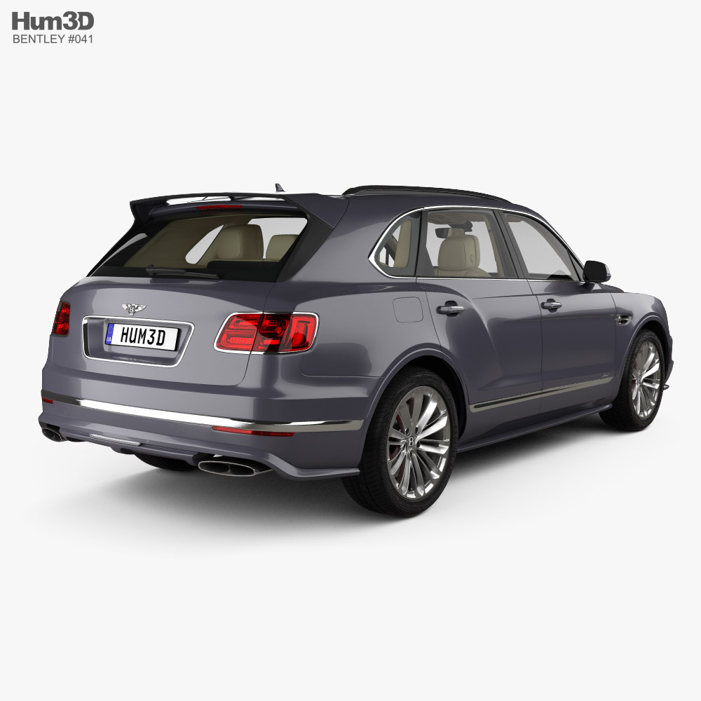 Bentley Bentayga Speed US-spec with HQ interior 2020 3d model back view