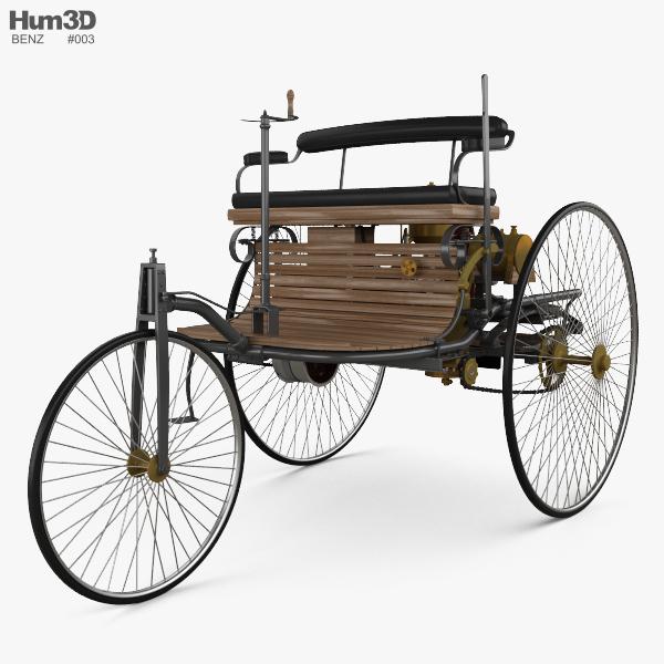 Benz Patent-Motorwagen 1885 3D model