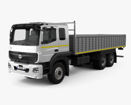 3D model of BharatBenz 2823r Flatbed Truck 2019