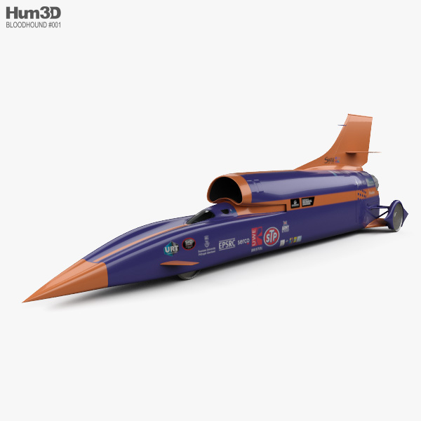 3D model of Bloodhound SSC 2015
