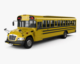 3D model of Blue Bird Vision School Bus 2014