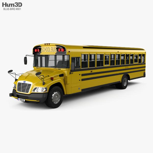 Blue Bird Vision School Bus 2014 3D model