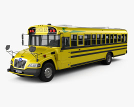 3D model of Blue Bird Vision School Bus 2015