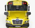 Blue Bird Vision Autocarro Escolar 2015 Modelo 3d vista de frente