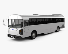 3D model of Blue Bird T3 RE L5 Bus 2016