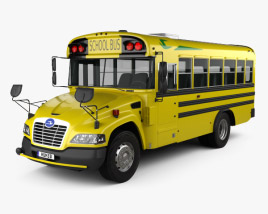 3D model of Blue Bird Vision School Bus L1 2015