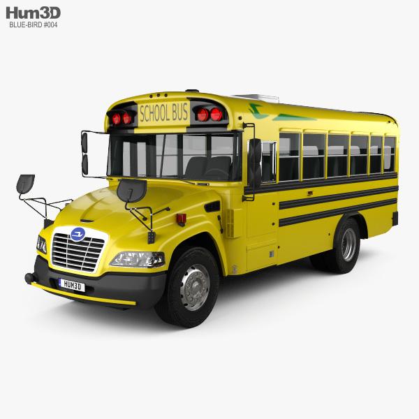 Blue Bird Vision Autobus Scolaire L1 2015 Modèle 3D