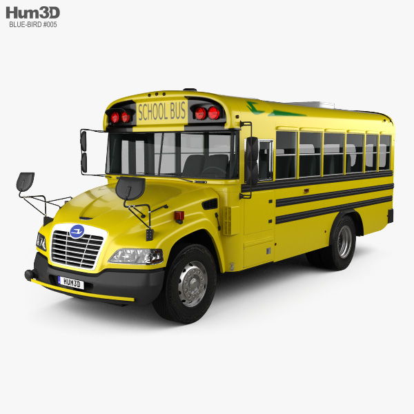 3D model of Blue Bird Vision School Bus with Wheel Chair Lift L1 2015