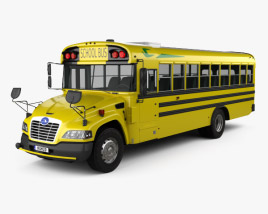 3D model of Blue Bird Vision School Bus L3 2015