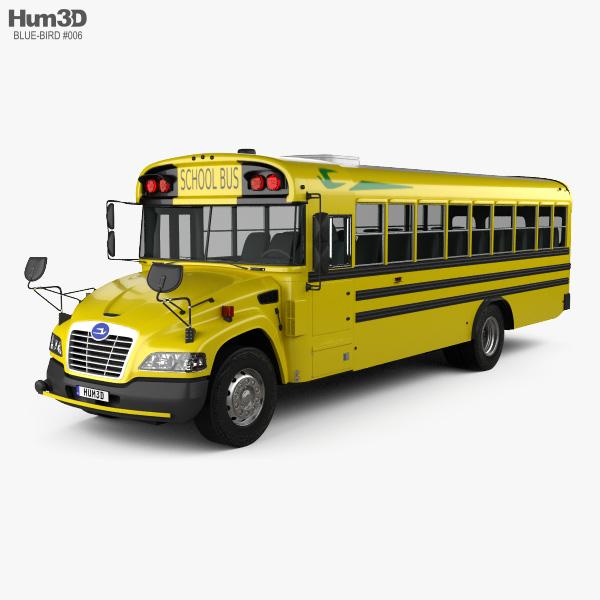 3D model of Blue Bird Vision School Bus L3 2015