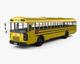 3D model of Blue Bird FE School Bus 2020