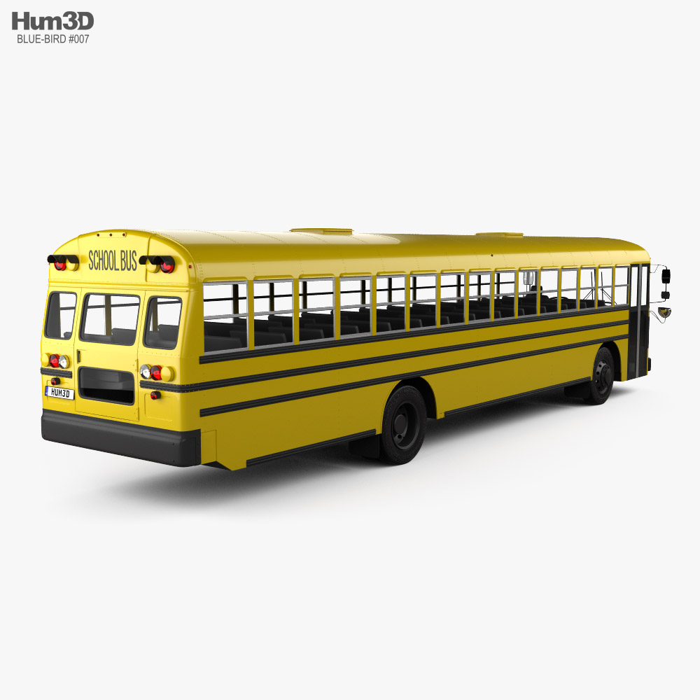 Blue Bird FE School Bus 2020 3d model