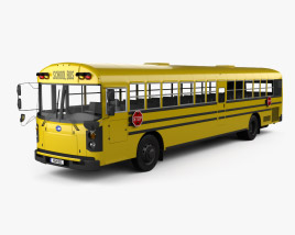 3D model of Blue Bird RE School Bus 2020