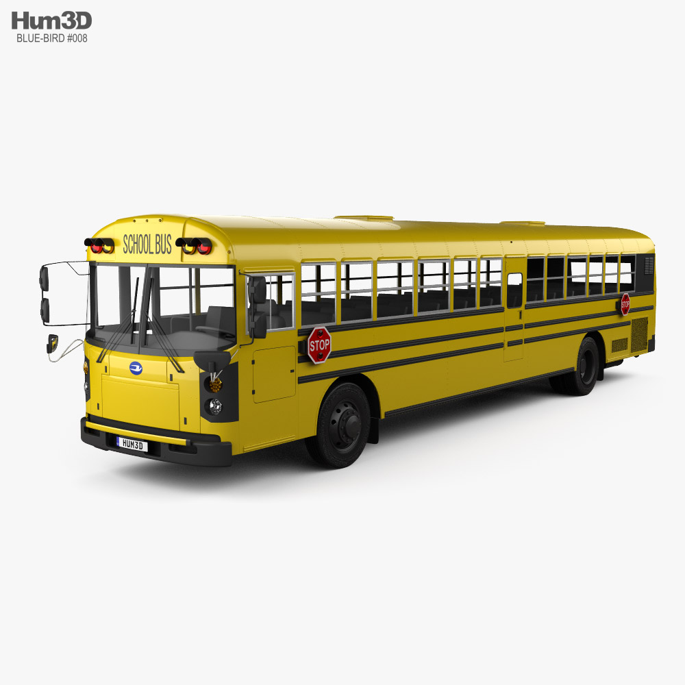 Blue Bird RE School Bus 2020 3D model