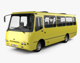 3D model of Bogdan A09202 Bus 2003