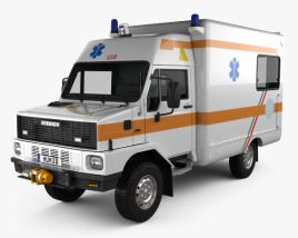 3D model of Bremach GR Ambulance Truck 1983