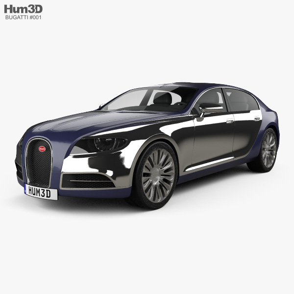 Bugatti 16C Galibier 2009 3D model
