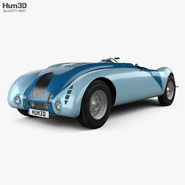 Bugatti Type 57G Tank 1936 3D model