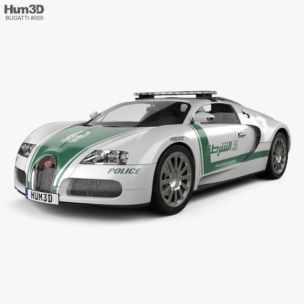 3D model of Bugatti Veyron Police Dubai 2014
