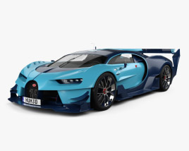 3D model of Bugatti Vision Gran Turismo 2015