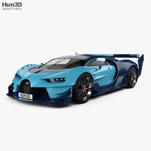 Bugatti Vision Gran Turismo 2015 3D-Modell