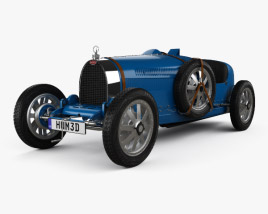 3D model of Bugatti Type 35 with HQ interior 1924