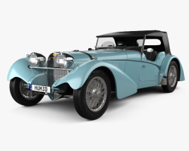 3D model of Bugatti 57SC Sports Tourer 1937