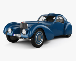 3D model of Bugatti Type 57SC Atlantic with HQ interior 1936