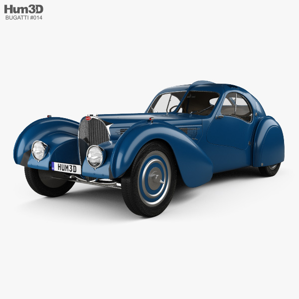 Bugatti Type 57SC Atlantic with HQ interior 1936 3D model