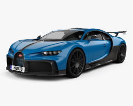 3D model of Bugatti Chiron Pur Sport 2021