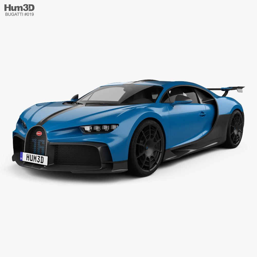 3D model of Bugatti Chiron Pur Sport 2021