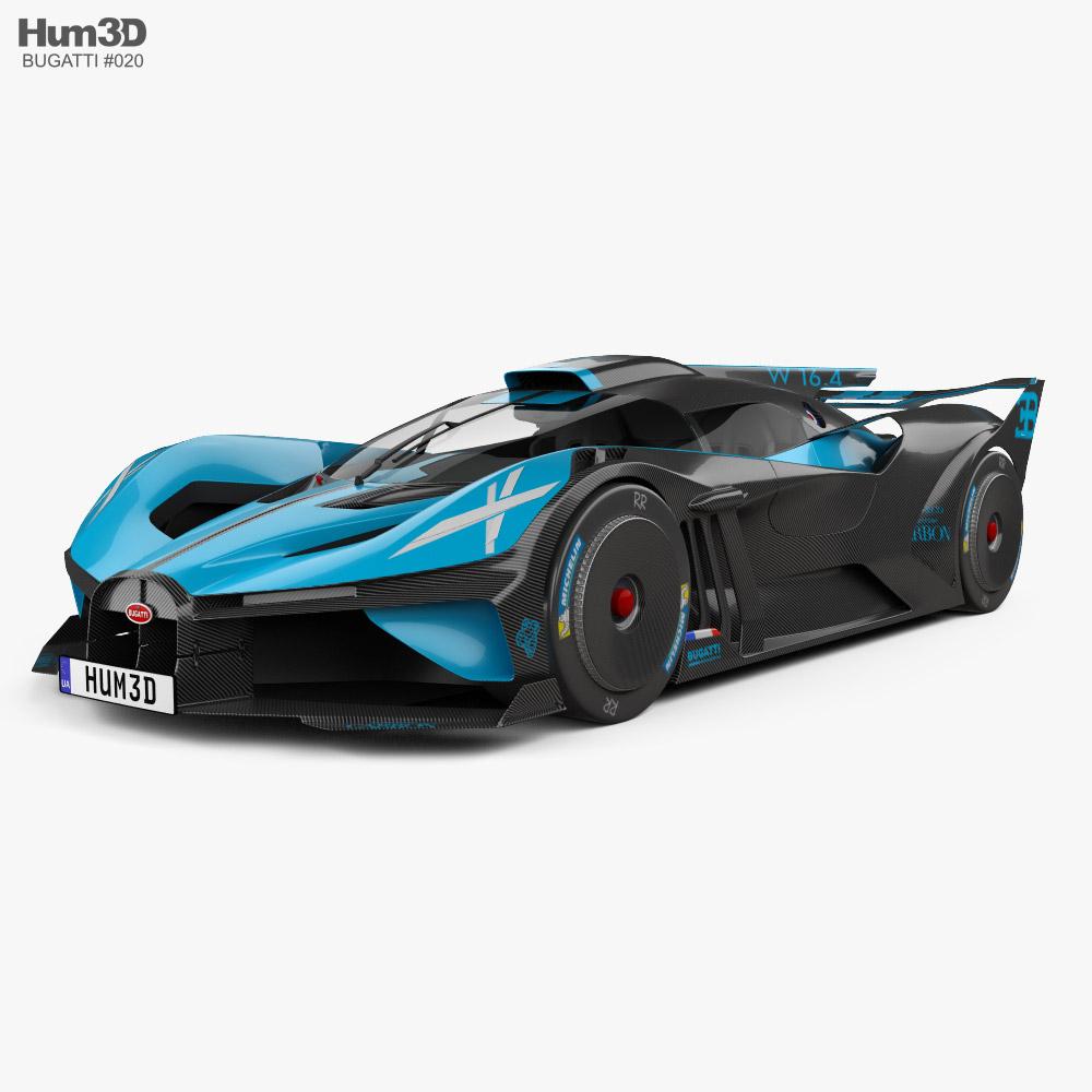 3D model of Bugatti Bolide 2021