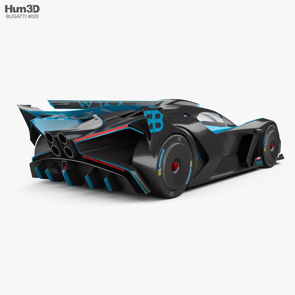 Bugatti Bolide 2021 3d model back view