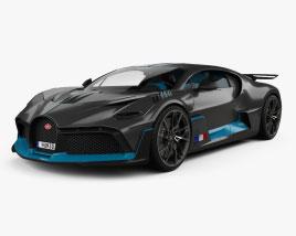 Bugatti Divo with HQ interior 2019 3D model