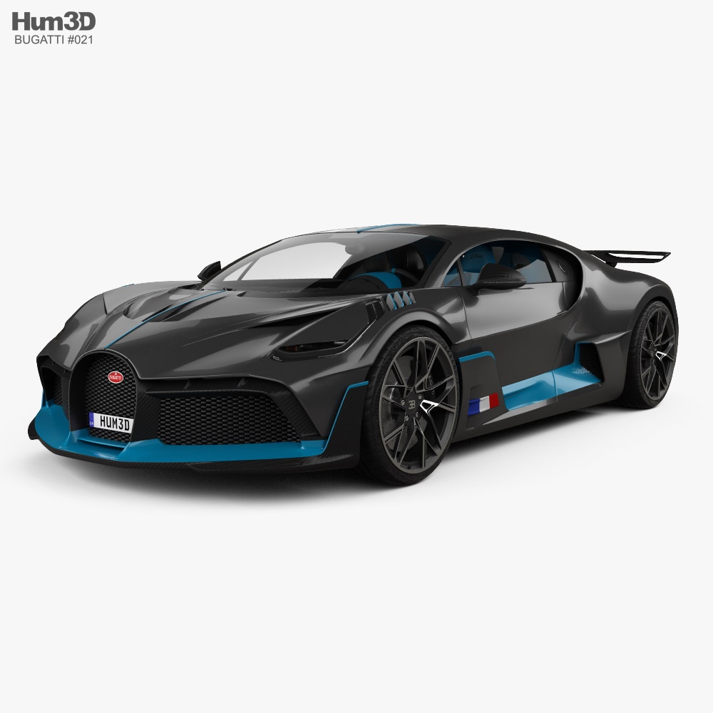 Bugatti Divo with HQ interior 2019 3D model