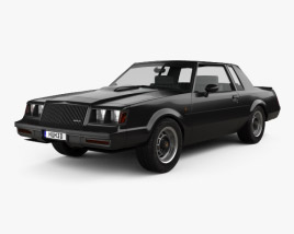 3D model of Buick Regal Grand National 1987