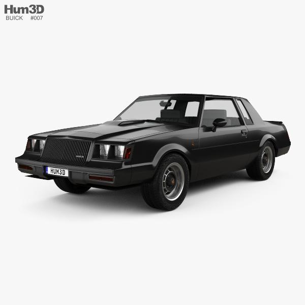 3D model of Buick Regal Grand National 1987