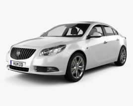 3D model of Buick Regal 2012